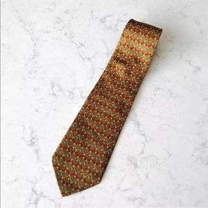 Brooks Brothers Makers Music Horn Silk Necktie